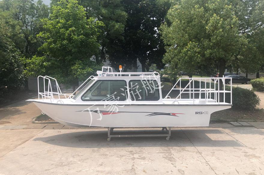 WH650铝合金电动全棚艇